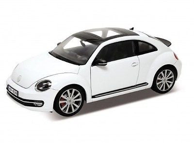 Welly Volkswagen New Beetle White With Sunroof 1/24 Diecast Car Model 24032
