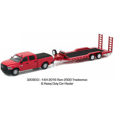 2016 Dodge Ram 2500 Tradesman & Heavy Duty Car Hauler 1/64 Greenlight 32090 D