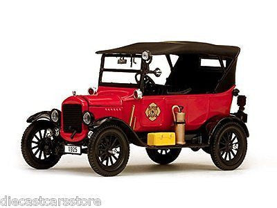 Sunstar 1925 Ford Model T Firechief Red 1/24 Diecast Car Ss1902
