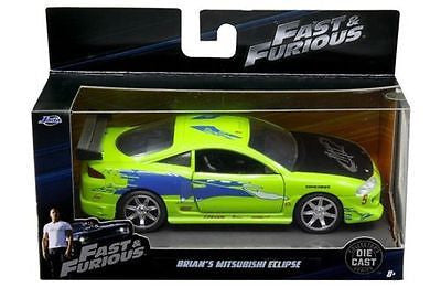 Jada 2001 The Fast And Furious Brian's 1995 Mitsubishi Eclipse 1/32 Green 97609