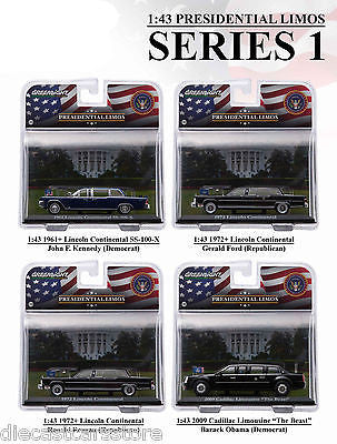 Presidential Limousine Series 1, 4pc Set 1/43 By Greenlight 86110 A-B-C-D