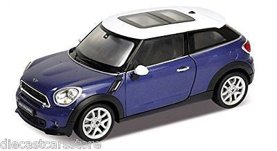 Welly 2014 Mini Cooper Paceman Blue 1/24 Diecast Car 24050