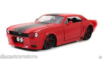 Jada 1965 Ford Mustang Red New Rim New In Box 1/24 Diecast Car 96895