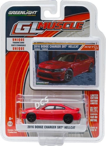 Greenlight Muscle 2016 Dodge Charger Srt Hellcat 1/64 Diecast Car Model 13160-F