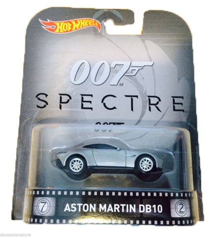 Hot Wheels Aston Martin Db10 2016 Retro Entertainment 1/64 Bond 007 Dmc55-959b