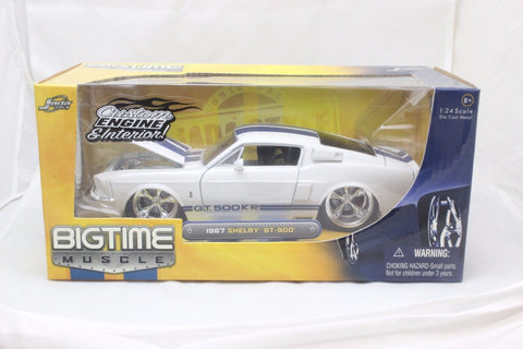 Jada 1967 Ford Shelby Mustang Gt500kr White 1/24 Model Car New In Box / Rare