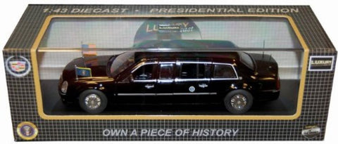 Luxuri Cadillac Dts 2009 Obama Presidential Limo 1/43 Model Car Diecast Ldpl600