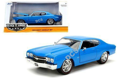 Jada Time Muscle 1970 Chevrolet Chevelle Ss Blue 1/24 Diecast Car-97828