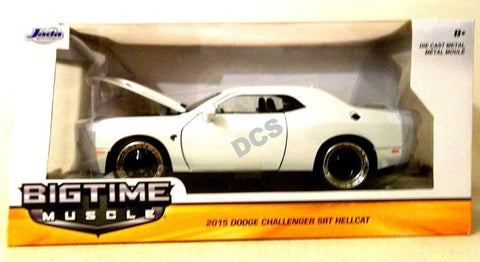 Jada 2015 Dodge Challenger Srt Hellcat White 1/24 Diecast Model Car 98170