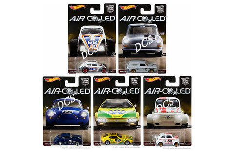 Hot Wheels 2017 Car Culture Air Cooled Sealed Set Of 5 Fiat Porsche- Djf77-956h