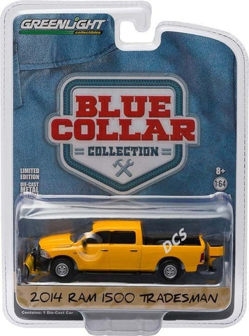 Greenlight 2014 Dodge Ram 1500 Tradesman W/Snow Plow 1/64 Diecast Car 35040-D