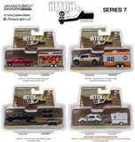 Hitch & Tow Series 7 Set Of 4 1/64 By Greenlight 32070a-32070b-32070c-32070d
