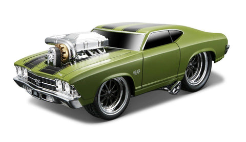 Maisto Muscle Machines 1969 Dodge Chevy Chevelle Ss Green 1/24 New Without Box