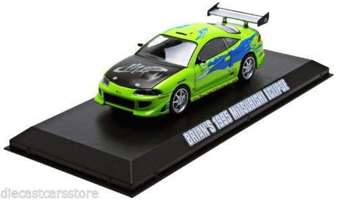 Greenlight 2001 Fast & Furious 1995 Brians Mitsubishi Eclipse 1/43 Green 86203