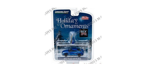 Greenlight Nissan Gt-R R35 Mijo Holiday Blue Ornaments 51079 Limited 1/64