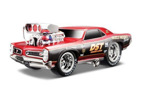 Maisto Muscle Machines 1966 Pontiac Gto Red 1/24 New Without Box