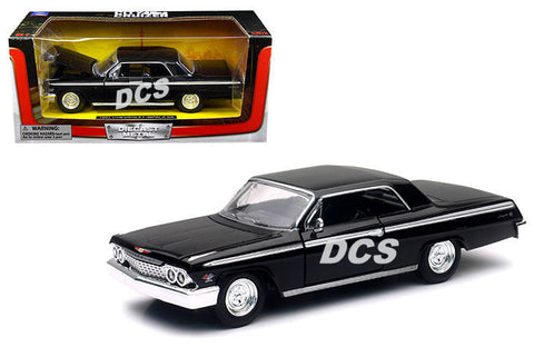 New Ray City Cruizer 1962 Chevrolet Impala Ss Black 1/24 Diecast Car Ss-71843bk