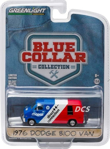 Greenlight 1976 Dodge Van Mopar Delivery Red/White/Blue 1/64 Diecast Car 35040-C