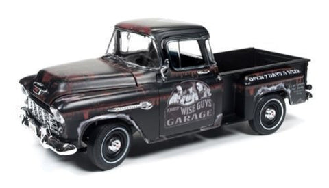 Autoworld 1955 Chevy Cameo Stepside Pickup Truck Three Stooges 1/18 Awss115