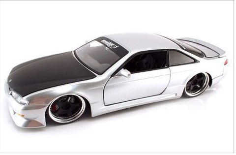 Jada Option D 1998 Nissan 240sx Silve 1/24 Diecast Car New Without Box/Rare Item