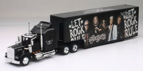 New Ray 1/43 Kenworth W900 Sleeper Cab Trailer Custom Aerosmith Graphics Ss-15643