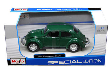 Maisto 1973 Volkswagen Beetle Green 1:24 Diecast Model Car 31926
