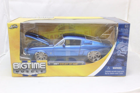 Jada 1967 Ford Shelby Mustang Gt500kr Blue 1/24 Model Car New In Box / Rare