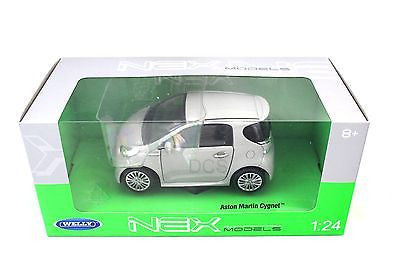 Welly Aston Martin Cygnet Silver 1/24 New In Box Diecast Car 24028w