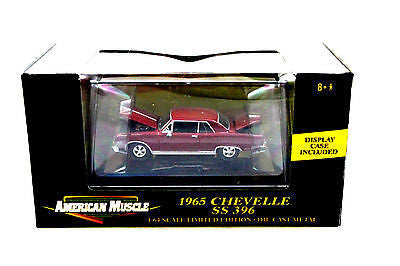 Ertl American Muscle 1965 Chevy Chevelle Red Limited Edition 1/64 Diecast Car