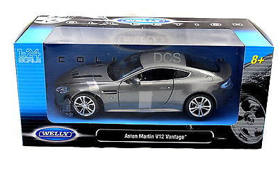Welly Aston Martin V12 Vantage Silver 1/24 Diecast Car
