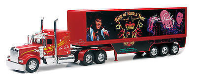 New Ray Kenworth W900 Elvis Truck King Of Rock N' Roll Red 1/32 Diecast Car