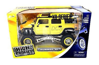 Jada High Profile Hummer H2 Yellow 1/24 Diecast Model Cars 90136