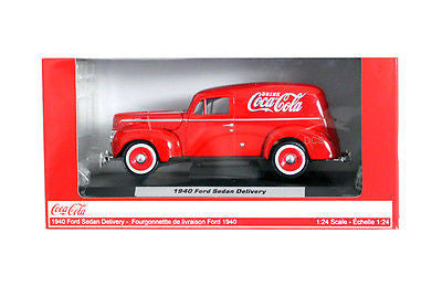 Motorcity Classic 1940 Ford Sedan Delivery Red Coca Cola 1/24 Diecast Car