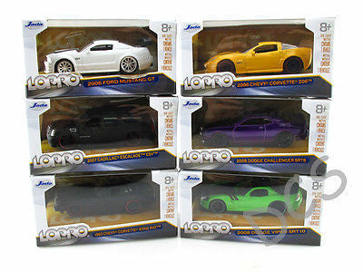 Jada Lopro Set Of 6 Ford, Cadillac,Chevy, Ford, Dodge 1:64 Wave 2 Diecast 14701
