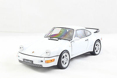Welly Porsche 964 Turbo White New Without Box 1/24 Diecast Car 24023-4d