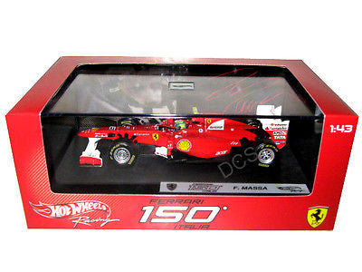 Hot Wheels Ferrari F2011 150 Italia #6 Felipe Massa 2011 1/43 Diecast Car W1076