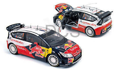 Norev Citroen C4 Wrc #1 Winner Rally Red Bull Loeb/Elena 1/18 New 181550