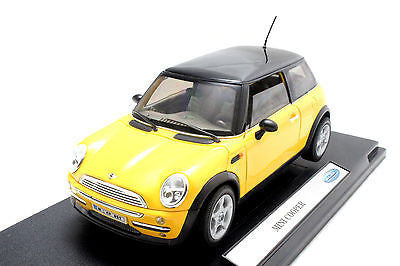 Welly 1995 Mini Cooper Yellow Diecast Car 19851