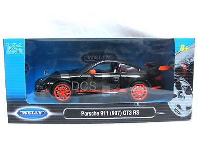 Welly Porsche 911 Gtr3 Rs (997) Black 1/24 Diecast Car
