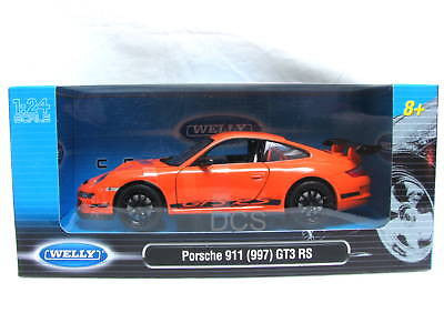 Welly Porsche 911 Gtr3 Rs (997) Orange1/24 Diecast Car