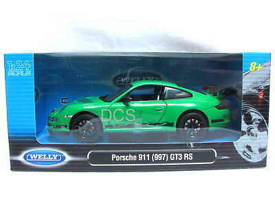 Welly Porsche 911 Gtr3 Rs (997) Green 1/24 Diecast Car