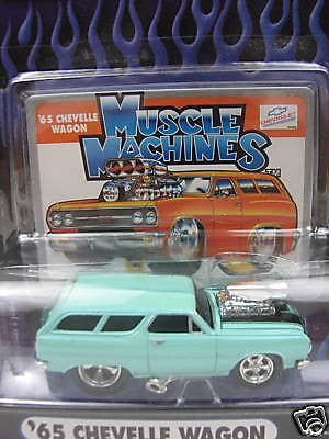 Muscle Machines '65 Chevelle Wagon 1/64 Diecast Car