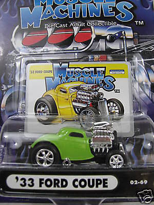 Muscle Machines ' 33 Ford Coupe 1/64 Diecast Car