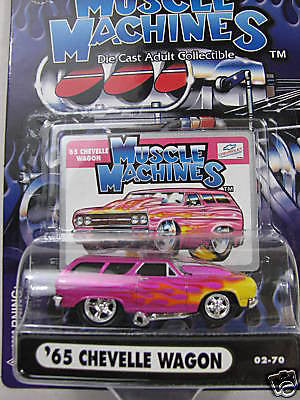 Muscle Machines ' 65 Chevelle Wagon 1/64 Diecast Car