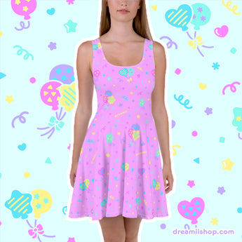 Birthday Party Skater Dress