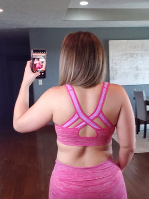 Ombre Sports Bra - Pink