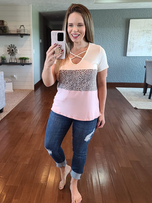 Live A Little Crisscross Top - Mauve
