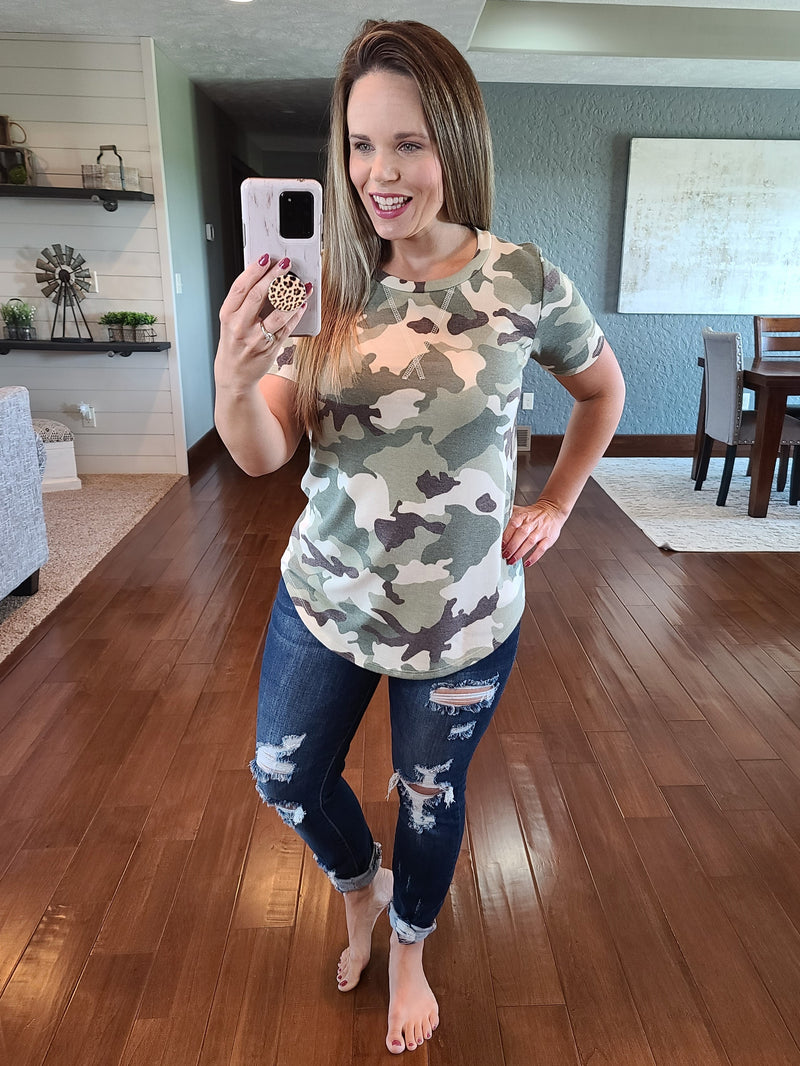 Ready For The Weekend Camo Tee