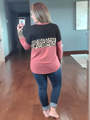Flirting With Leopard Top