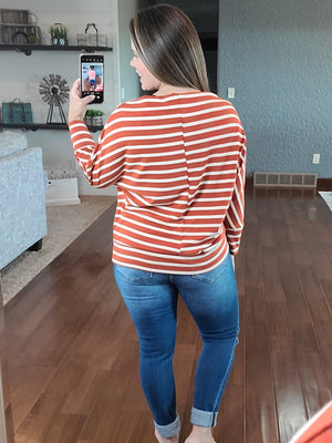 Day Date Off the Shoulder Top - Rust